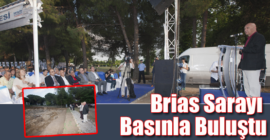 Brias Sarayı Kalıntıları Basınla Buluştu
