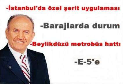 İstanbul Büyükşehir Belediye Başkanı Topbaş'dan istanbul durumu
