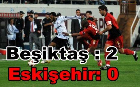 Süper Lig 18. Hafta Beşiktaş:2 - Eskişehirspor: 0