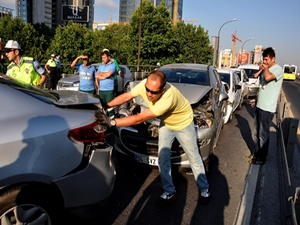 İstanbul'u kilitleyen kaza!