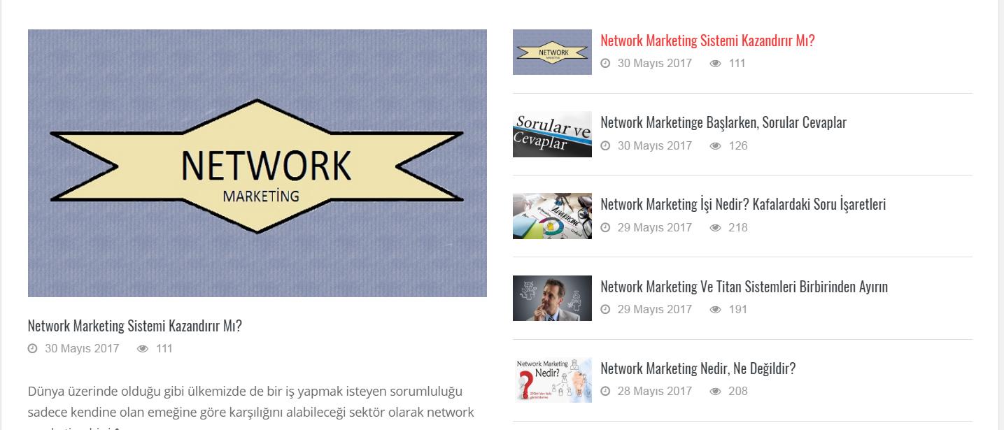 Kazancın Yeni Yolu Network Marketing