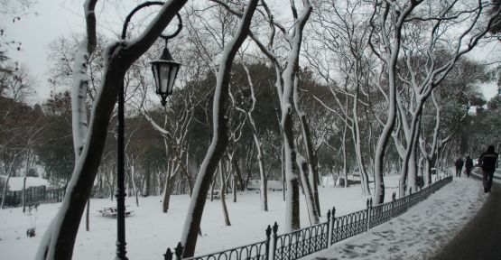 İstanbul beyaza büründü.