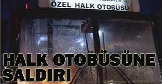 Maskeli grup halk otobüsüne saldırdı
