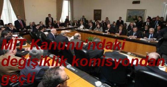MİT Teklifi Komisyon'dan Onay Aldı