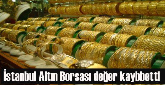 İstanbul Altın Borsası değer kaybetti