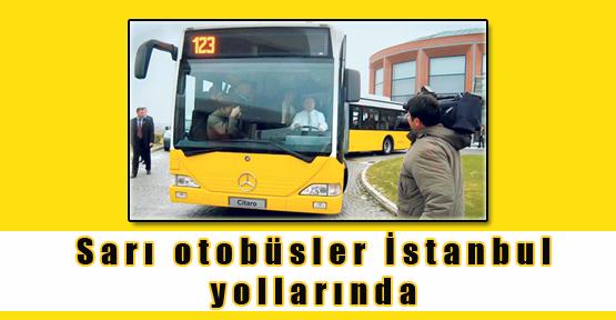 Sarı otobüsler İstanbul yollarında