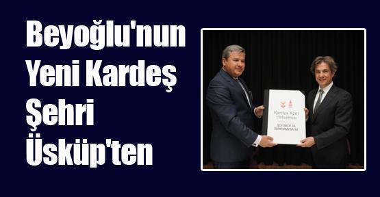 Beyoğlu'nun Yeni Kardeş Şehri Üsküp'ten Geldi