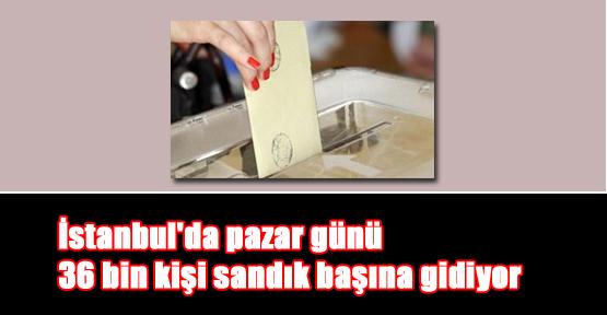 İstanbul'da pazar günü 36 bin kişi sandık başına gidiyor
