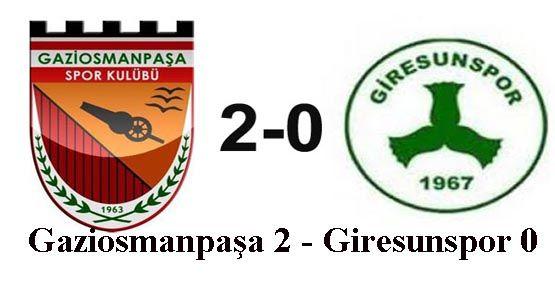 Türkiye Kupası -Gaziosmanpaşaspor: 2 - Giresunspor: 0