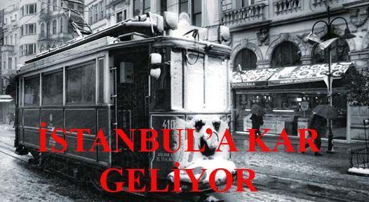 İstanbul\'a kar gelyor