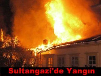 Sultangazi\'de yangın