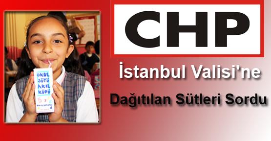 CHP'liler İstanbul Valisine Süt Zehirlenmelerini Sordu