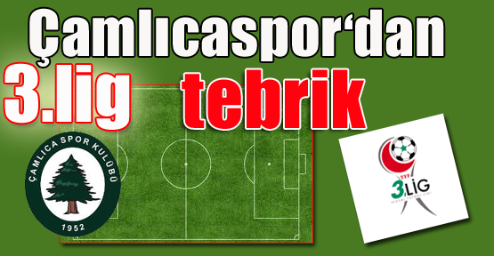 Çamlıcaspor'dan İstanbul Takımlarına Tebrik