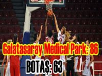 Türkiye Kadınlar Basketbol Ligi -Galatasaray Medical Park: 86 - BOTAŞ: 63