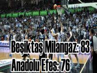 Beko Basketbol Ligi -Beşiktaş Milangaz: 83 - Anadolu Efes: 76