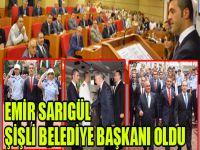 Emir Sarıgül Şişli Belediye Başkanı oldu!