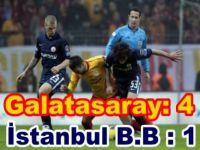 Spor Toto Süper Lig -Galatasaray: 4 - İstanbul Büyükşehir Belediyespor: 1