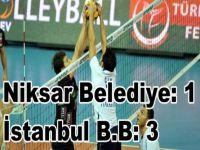 Voleybol: Aroma Erkekler Birinci Ligi     -Niksar Belediye: 1 - İstanbul Büyükşehir Belediyesi: 3