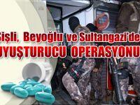 Şişli ve Diğer İlçelerde Helikopter Destekli Uyuşturucu Operasyonu...