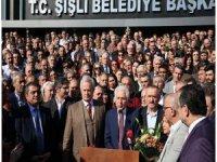 İnönü yüzlerce personelle Keskin'i belediye kapısında desteğini açıkladı!