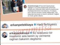 Erkan Petekkaya, Ekrem İmamoğlu'na 'Terbiyesiz' dedi.