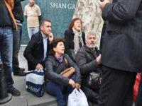 Açlık grevi eylemcileri gözaltında