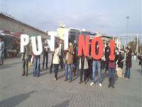 Taksim'de Putin'e NO!