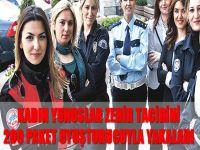 Kadın yunuslar zehir tacirini 200 paket uyuşturucuyla yakaladı