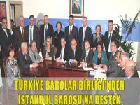 Türkiye Barolar Birliği'nden İstanbul Barosu'na destek