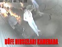 Büfe hırsızları kamerada
