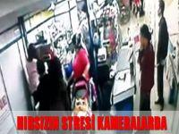 Hırsızın stresi kameralarda