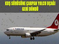 Kuş sürüsüne çarpan yolcu uçağı geri döndü