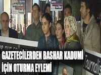 Gazetecilerden Bashar Kadumi İçin Oturma Eylemi