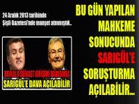 Baykal'a suikast davasında Sarıgül'e soruşturma açılabilir