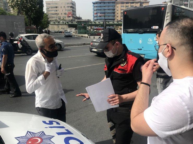 """Polisten taksiciyi şoke eden cevap: """"Bu hastalık boşluğa gelmez"""""""